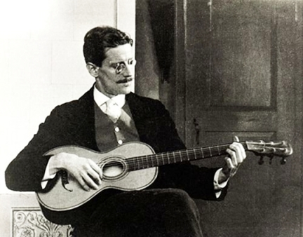 James Joyce sings