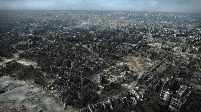 Warsaw after WWII: not much promise for beauty there.