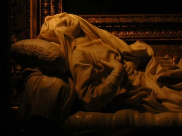 Bernini's statue of Bl. Ludovica Albertoni puts her best, uhm, forward