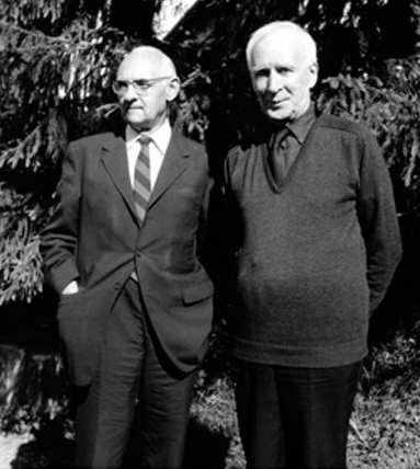 Dare we hope all men be saved from war? Pictured: von Balthasar (left) and de Lubac (right).