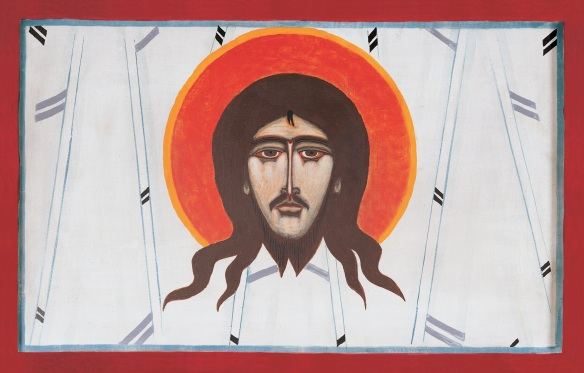 Plate 7. Jerzy Nowosielski. Mandylion, 1978. Acrylic paint on board. Franciscan Church of the Immaculate Conception, Krakow, Poland.