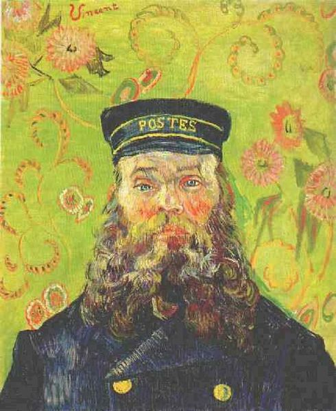 Van Gogh, Potrait of the Postman Joseph Roulin , April 1888.