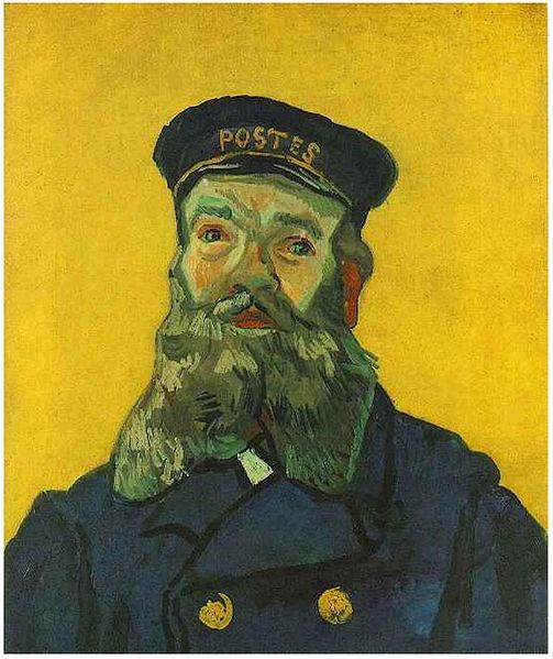 Van Gogh, Potrait of the Postman Joseph Roulin , December 1888.