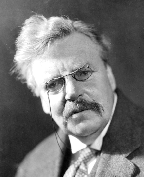 """Wha? Zizek?!,"" say Chesterton in an aside of his writings on Dickens."