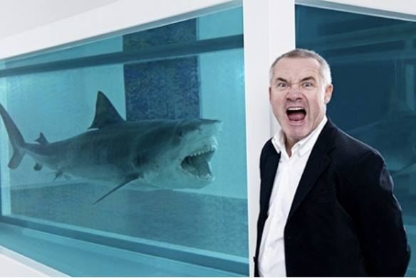 Damien Hirst with the most famous piece from his Requiem series which is the subject of this IMAGE issue.