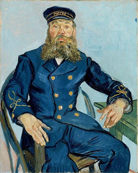 Van Gogh, Potrait of the Postman Joseph Roulin , August 1888.
