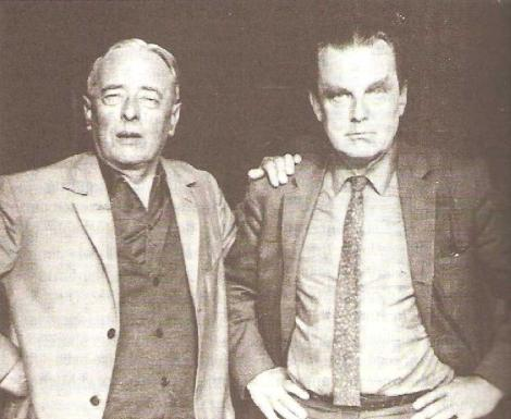 Czeslaw Milosz (right) with friend and literary rival Gombrowicz (mentioned later in post).